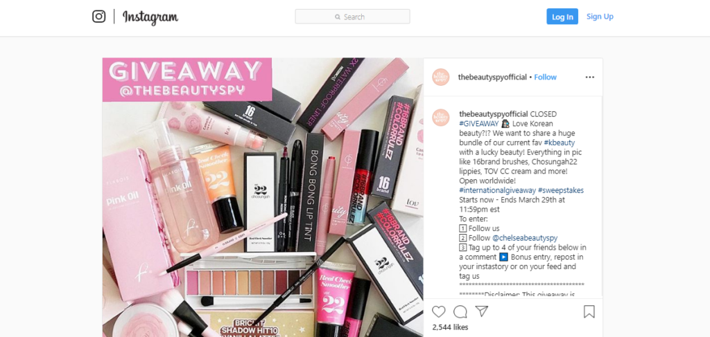 Instagram Free Giveaway sample image - Leads From Instagram
